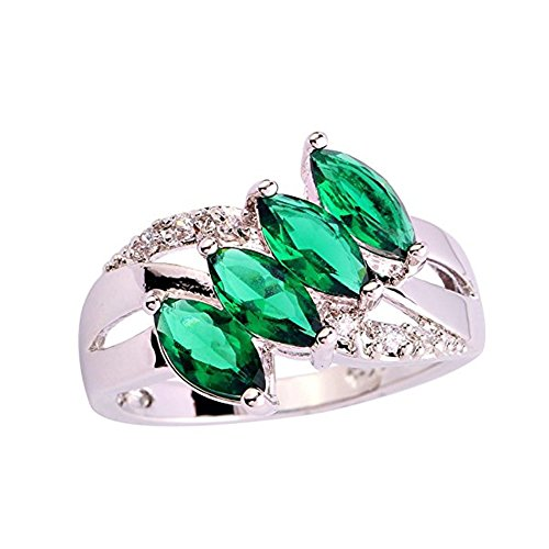 [Psiroy Women's 925 Sterling Silver 1cttw Emerald Quartz Filled Ring] (Solid Sterling Silver Square Braid)