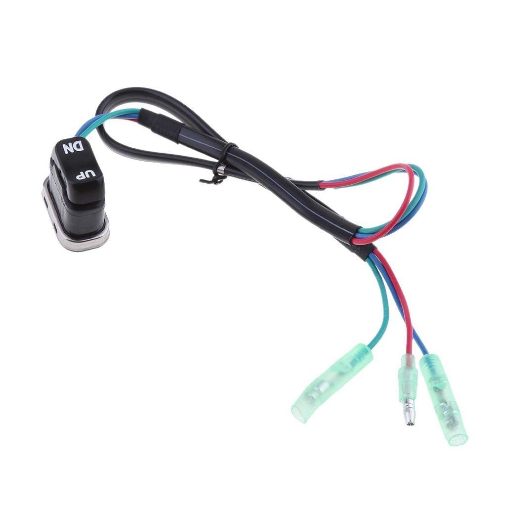 Gazechimp 2X Arriba Abajo Toggle Trim Tilt Switch Reemplazo para Yamaha Motor Fueraborda Mando A Distancia Reemplazar Ensamblaje