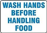 WASH HANDS BEFORE HANDLING FOOD