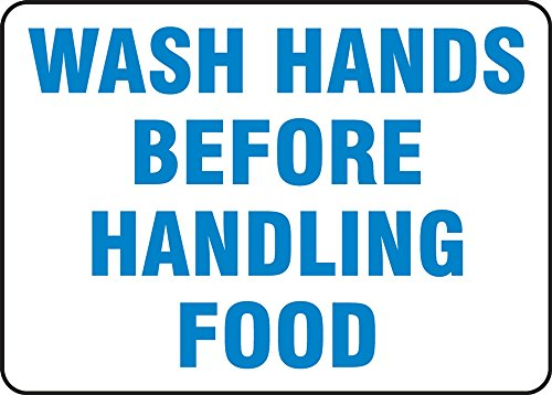 WASH HANDS BEFORE HANDLING FOOD by Accuform