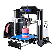 ALUNAR 3D Printer DIY Prusa I3 Kit Self-Assembly Desktop FDM 1.75mm PLA 3D Pen Filament Heated Bed by Alunar Direct