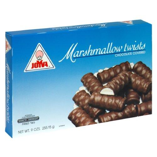 Joyva Marshmallow Twists Chocolate Covered Vanilla, 9-Ounce (Pack of 4) (Joyva Marshmallow)