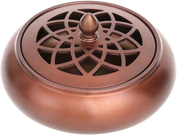 芳香器・アロマバーナー 純銅香炉ホームアンティーク白檀香炉募集香炉は、ヨガのリラクゼーション瞑想やホームオフィスに最適です アロマバーナー芳香器