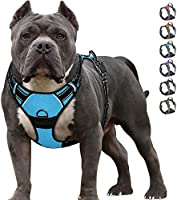 IPETSZOO Dog Harness No-Pull Pet Harness Adjustable Outdoor Pet Vest 3M Reflective Oxford Material Vest for Dogs Easy...