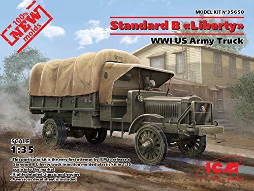 ICM 35650 Standard B Liberty, WWI US Army Truck Military Miniatures ()