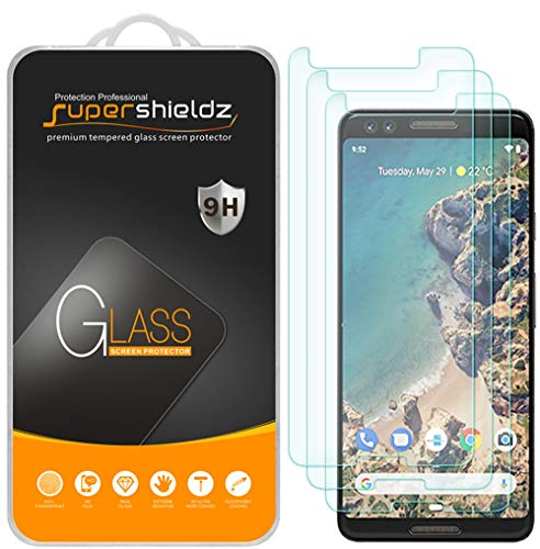 (3 Pack) Supershieldz for Google (Pixel 3) Tempered Glass Screen Protector Anti Scratch, Bubble Free (Best Glass Screen Protector Google Pixel)