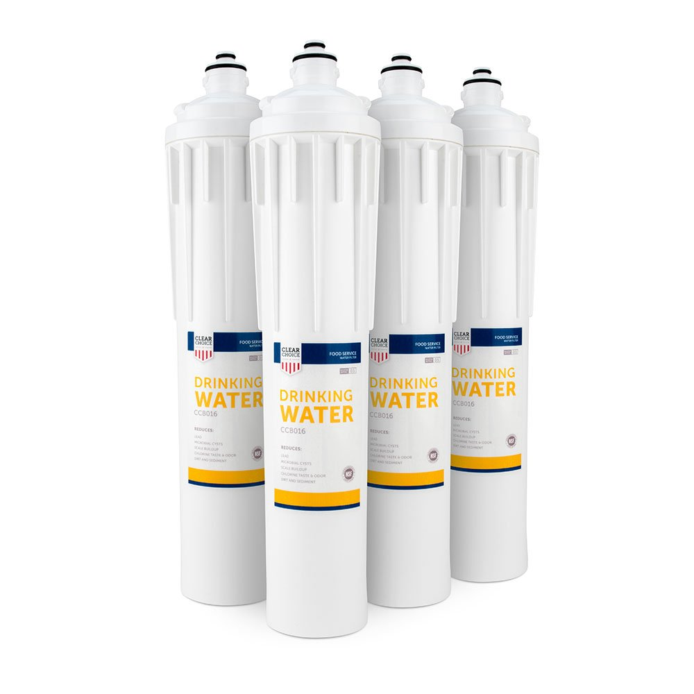 Clear Choice Drinking Water Filtration System Replacement Cartridge for Everpure EV9270-70 EV9270-71 EV9270-72 EV9270-76 EV9611-16 H-300 Also Compatible with Nu Calgon 9619-06 9635-06, 4-Pack ClearChoice