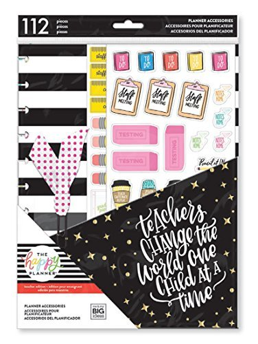 Create 365 The Happy Planner Big Teacher Accessory Pack Teachers Gonna Teach (Fits BIG Sized Happy Planners)