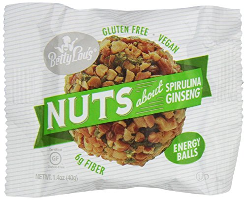 Balls Spirulina Ginseng (Betty Lou's Nuts About Spirulina Ginseng Energy Balls 12 Ct)