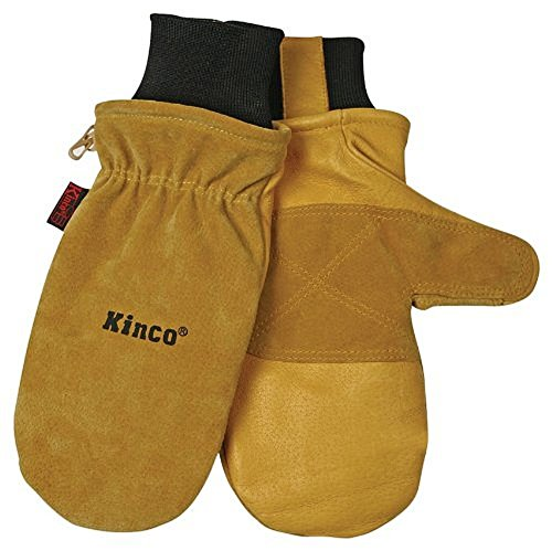 Mitt Mittens (KINCO INTERNATIONAL 901T Heat Keep Thermal Lining Premium Pigskin Leather Mitt, Work, Gloves,)