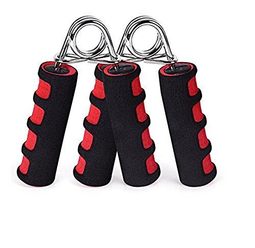 Paar Handtrainer Federgriffhantel, Schwarz Rot