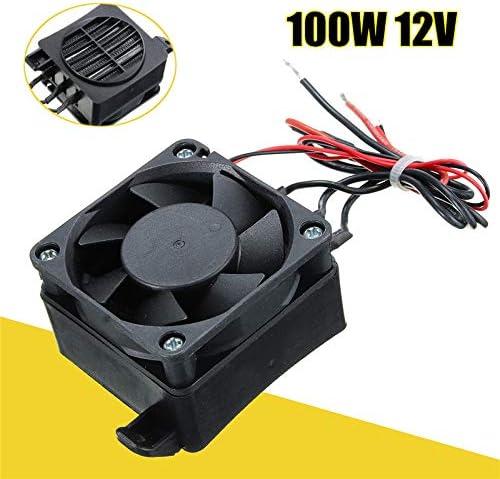 Negro NUEVO 100W 12V DC PTC Calentador de ventilador Incubadora de temperatura constante Termostato de espacio caliente: Amazon.es: Hogar