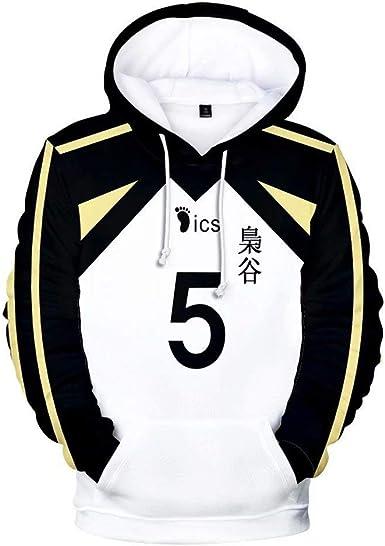 CHLOBLOM Haikyuu Cosplay Costume Fukurodani Hoodie Bokuto Koutarou Sweatshirt Akaashi Keiji Sweater T-Shirt
