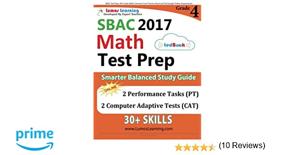 SBAC Test Prep: 4th Grade Math Common Core Practice Book and Full ...