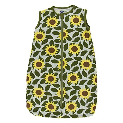 Kickee Pants Little Girls Print Lightweight Sleeping Bag - Aloe Sunflower, 0-6 Months