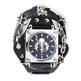 Yesurprise Women Men Leather Band Unisex Black Bracelet Cuff Bangle Wristwatch, Watch Central