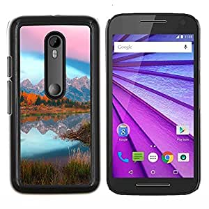 Stuss Case / Funda Carcasa protectora - Mountain Lake Glow - Motorola MOTO G3 / Moto G (3nd Generation)