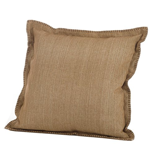 Natural Color Whip Stitched Boarder Pillow (Includes Cover & Filling), 20