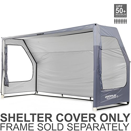Cover It Portable Shelters : Quickplay portable soccer team shelter cover only