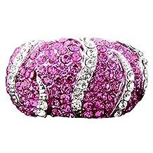 Fushia Rhinestone Plated Platinum Fashion Jewelry Women Jewellery Simulated Austria Diamond Ring