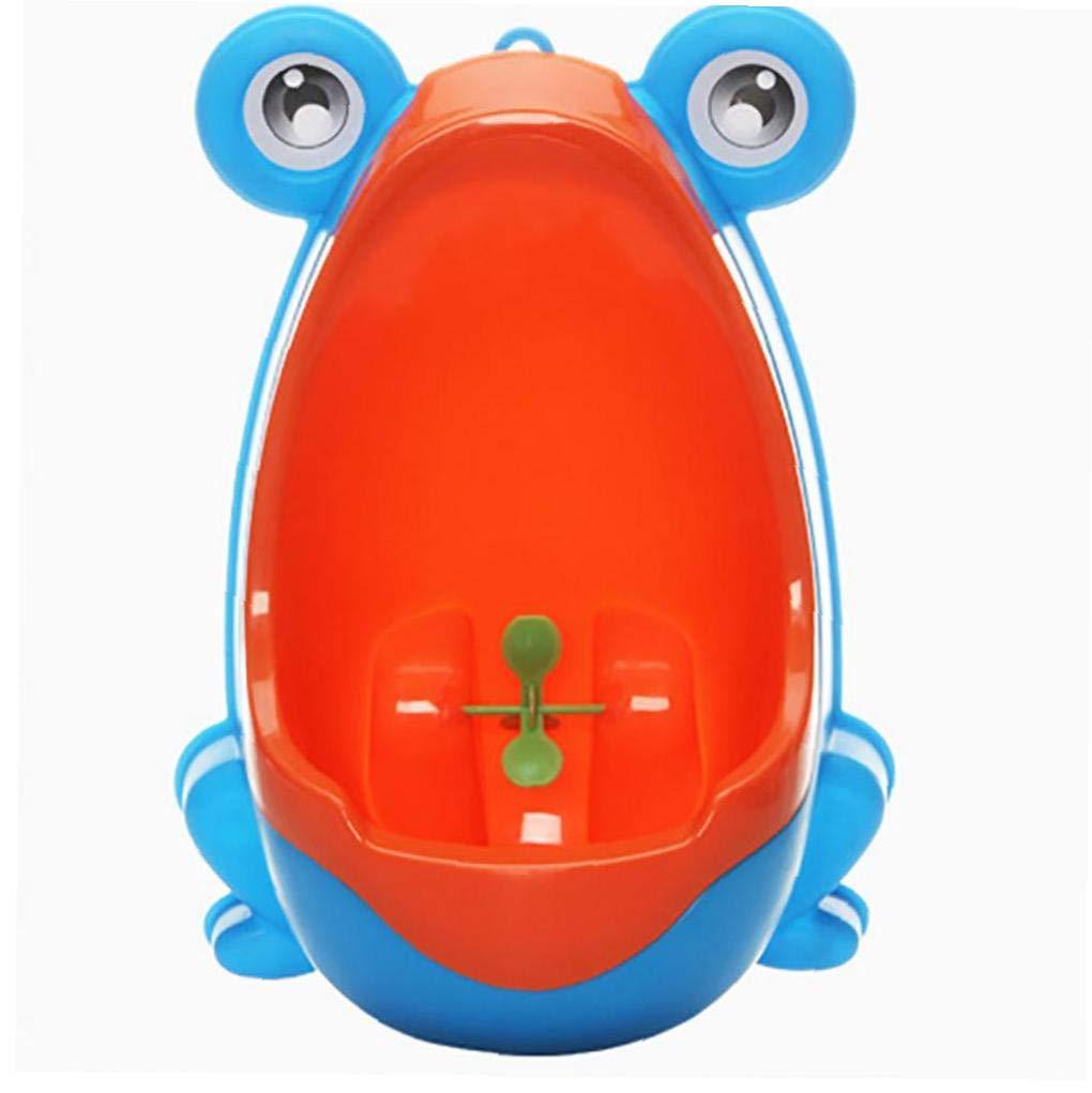 fedsjuihyg B/éb/és Potty Toilettes Formation pour Les Enfants avec Support Vertical Urinoir Mural Grenouille Style Gar/çon 1pc Bleu