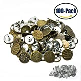 Jeans Buttons Metal Tack Buttons Replacement Kit 100 Pieces 20mm Button Studs with 10 Styles Bronze by FENGWANGLI