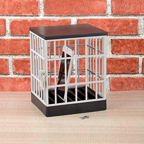 - Mobile Phone Holder,Mobile Prison Cell Lock Security Smartphone Cage Storage Cage Tricky Toy Novelty Creative Toy Office Gadget