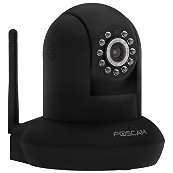 Foscam FI9831P HD 960P WiFi Security IP Camera with iOS/Android App, Pan,  Tilt, Zoom, Two-Way Audio, Night Vision up to 26ft, and More (Black)