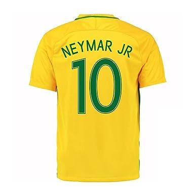 a9e4034d895d1 Neymar Jr #10 Brazil Home Soccer Jersey Rio 2016 Olympics Youth.