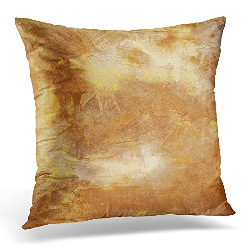 Cheap  Duplins Abstract Brown Old Concrete Wall Aging Decorative Pillow Cover 16x16 Inches..