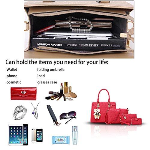 delle del carta modo borsa portafoglio parti della delle pacchetto della messaggero quattro donne borsa tracolla Sdinaz borsa Rose nuove di xqWBFwTnOY