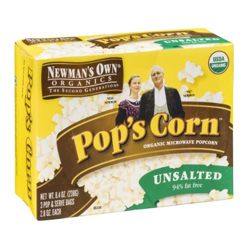 Newman's Own Organics Pop's Corn Organic Microwave Popcorn Unsalted - 3 CT by Newman's Own