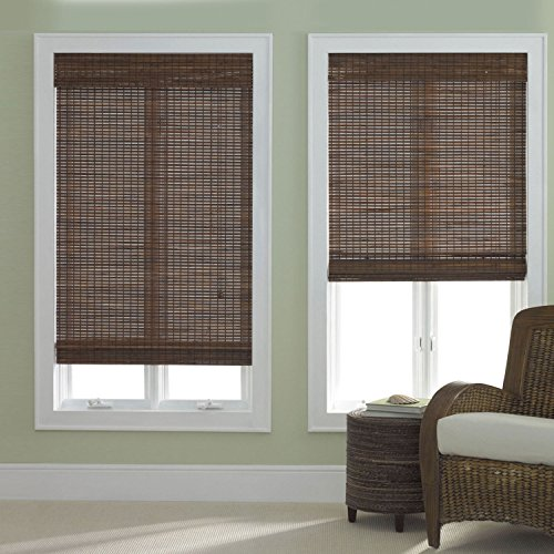 Bamboo Roman Shade Dark Walnut (Bamboo Window Treatments)
