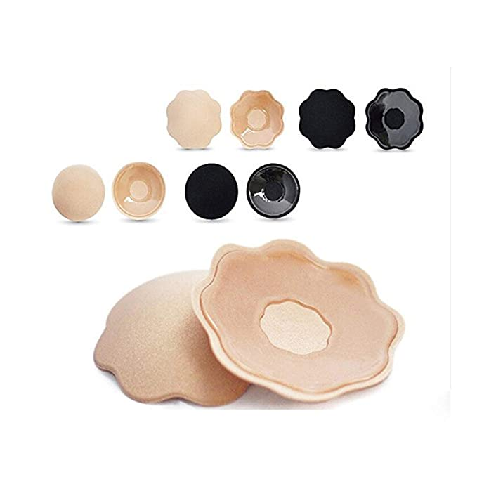 28afa0897bc37 URSMART Pasties Womens Reusable Silicone Nipple Covers Adhesive Silicone  Pasties 4 Sets