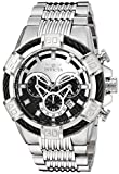 Invicta Men's 'Bolt' Quartz Stainless Steel Casual Watch, Color:Silver-Toned (Model: 25540)
