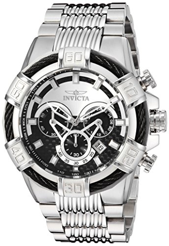 (Invicta Men's Bolt Quartz Watch with Stainless-Steel Strap, Silver, 30 (Model: 25540))