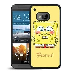 HTC ONE M9 Case,Best Friend SpongeBob Patrick 1 Black For HTC ONE M9 Case