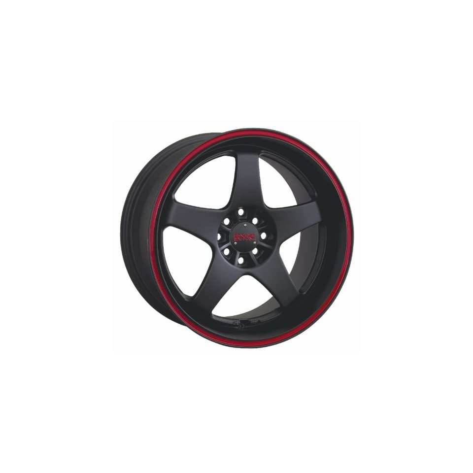 17 9 XXR 962 Black Red Stripe Rims Wheels 240sx S13 89 SET OF 17 INCH XXR WHEELS 4X100 and 4X114.3 OFFSET 35