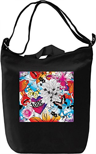 Abstract Pattern Borsa Giornaliera Canvas Canvas Day Bag| 100% Premium Cotton Canvas| DTG Printing|
