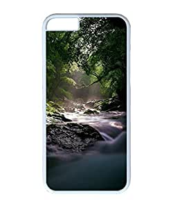 VUTTOO Iphone 6 Case, Flowing Forest River PC Plastic Hard Case Cover for Apple iPhone 6 4.7 Inch PC White