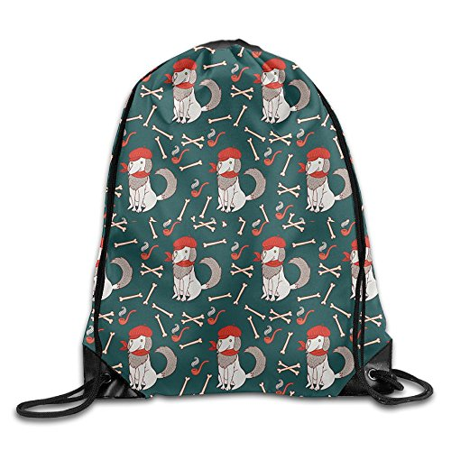 Background Of A Dog Bone Clip Art Cool Drawstring Travel Sports Backpack Gift (Clipart Christmas Holly)
