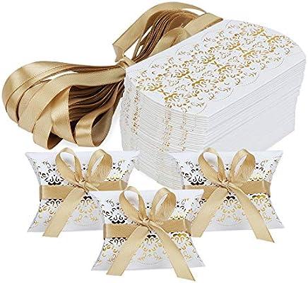 Hseamall Cajas de recuerdos de boda, caja de regalo para fiestas ...