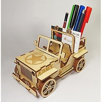 Amazon.com: StonKraft Wooden 3D Puzzle Military Jeep