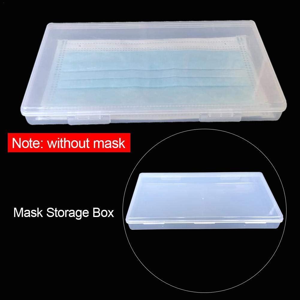 Conteneur antipoussi/ère de bo/îtier en Plastique Transparent de bo/îte de Rangement pour Le Bureau /à Domicile