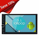 EinCar 7'' Capacitive Screen Car Stereo 16GB ROM Android 5.1 Head Unit Intel Quad Core Double Din Touch Screen In Dash Radio Auto GPS Navigation with Bluetooth WiFi 1080p Video Airplay