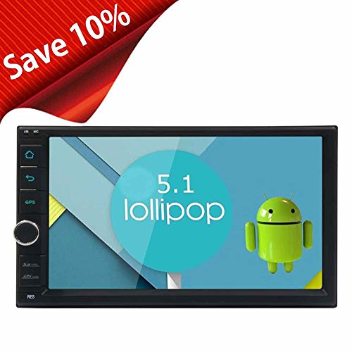 EinCar 7inch Capacitive Screen Car Stereo 16GB ROM Android 5.1 Head Unit