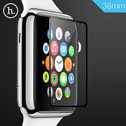 Apple Watch Screen Protector, TabPow HOCO [Tempered Glass] Ghost Series - Ultra-Thin 0.1mm [Full Screen Protector] Premium Tempered Glass Screen Protector for Apple Watch 38mm