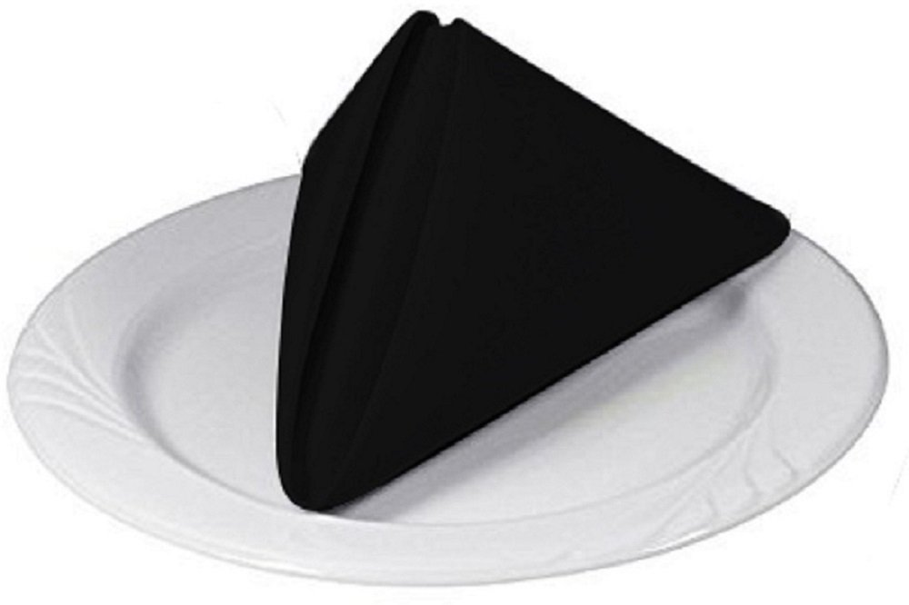 Elegant White Dinner Napkins 12pk ELAINE KAREN