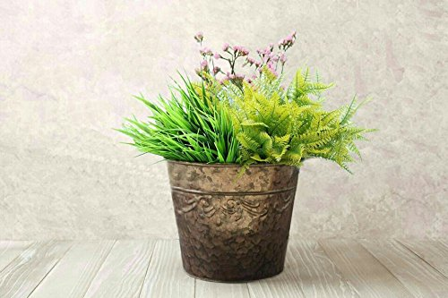 pots-and-planters-10-inchindoor-flower-plant-containers-rose-gold-corrugated-galvanized