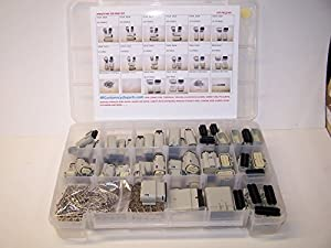 Molex Gray Connectors, 477 Piece Kit, Stamped Terminals, Pic Tool, 3X to 20X, Wiring Switch, Wire 07-12, OEM, Harley, Auto,